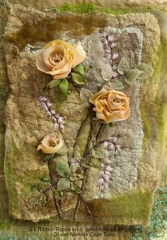 Ribbon Embroidery -  Di Van - http://www.dicraft.co.za/blog/a-felted-rose-sampler-kit/