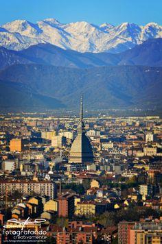 La neve accarezza i monti di Torino... #neve #Torino #Fotografandocreativamente