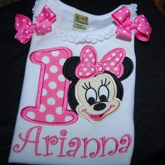 Your place to buy and sell all things handmade First Birthday Tutu, 1st Birthday Shirts, Pink Birthday, Birthday Party Themes, Birthday Gifts, Personalized Birthday Shirts, Rainbow Tutu, Minnie Mouse Shirts, Vacation Shirts
