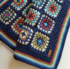 Beautiful granny square afghan!