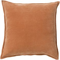 Smooth Velvet Rust Pillow