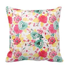 Floral cushion 40x40 - home gifts ideas decor special unique custom individual customized individualized
