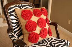 rosettes pillow tutorials
