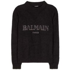 Balmain Embellished Wool-Blend Sweater
