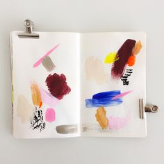 Elma de Jonge | art journal page #artjournal #art #painting #design #color…