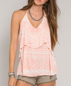 Loving this Coral Nadine Top on #zulily! #zulilyfinds