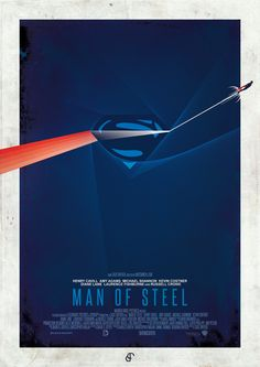 Man of Steel (2013) Movie Poster Redesigns by Patrick Connan