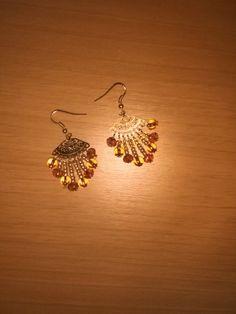 FantasyCreazioni: Orecchini con microcristalli e perline oro