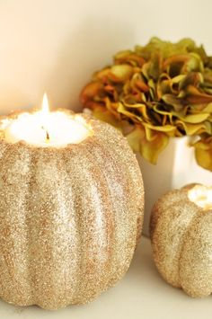 Glitter Pumpkins #ColorfulFall #decor #party