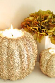 Glitter Pumpkins #halloween