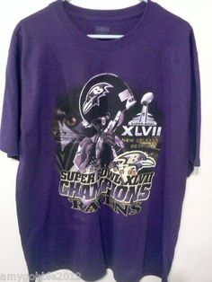 2013 Baltimore Ravens Superbowl Champions T Shirt $40 free priority shipping.