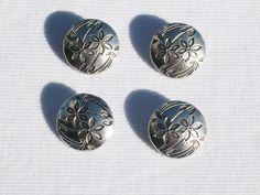 4 Metalen knopen, 17mm van Botões op DaWanda.com