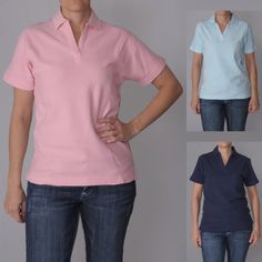 This relaxed fit polo shirt by ADI Ultra features a double pique knit design for stronger, lasting wear. This top is completed with a V-neck collar and short sleeves. Neck Collar, Short Sleeve Polo Shirts, Knitting Designs, Best Sellers, Must Haves, Polo Ralph Lauren, Pajamas, Short Sleeves, Classy