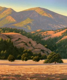 """Northern California Landscape Painting, """"Late Light, Alexander Valley"""", Limited Edition Giclée Print, Alexander Valley, www.terrysauve.com"""