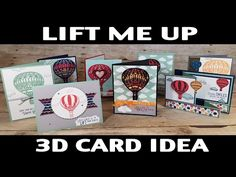 Stampin' Up! Spring-Summer Catalogue 2017: Lift Me Up Z-Fold Card - YouTube