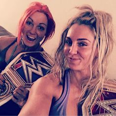 We are the champions, my friends @beckylynchwwe (so this happened) #thelmaandlouise