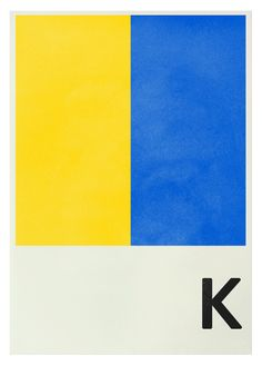 """US Navy flag print. K for Kilo. """"I wish to communicate with you."""""""