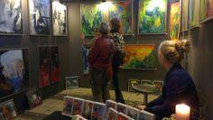 Billedet er fra udstillingen Alletiders kunst i Ridehuset i Århus i 2013. Her udstillede jeg  med mine malerier. Se mere på hjemmesiden www.livetsgalleri.dk
