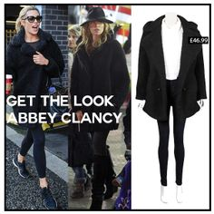 Get The Look: Abbey Clancy.  Steal her style with our Black Faux Teddy Fur Coat.