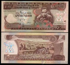 ETHIOPIA (ETIOPIA). Billete de 10 birr 2006