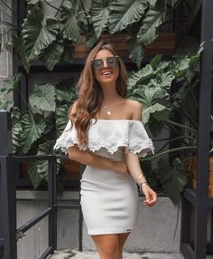 white off shoulder short homecoming dress - Vestido Off Shoulder, Vestidos Color Blanco, Pretty Outfits, Cute Outfits, Look Fashion, Womens Fashion, White Off Shoulder, Summer Fashion Outfits, Dress For You