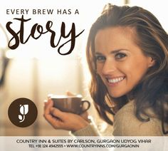 Every brew has a story. And we serve all of them. So drive away your blues with your favourite one! Cheers… to your favourite coffee story!  #coffeeshop #cheers #countryinns #countryinnudyogvihar #countryinngurgaon