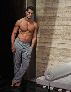 Navy Mix Pure Cotton Dogtooth Pyjama Bottoms David Gandy #GandyForAutograph M&S Line