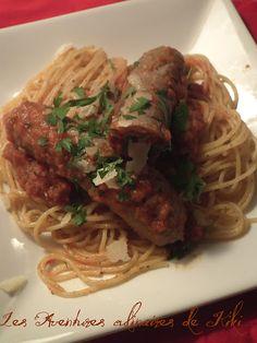 saucisses italiennes braisées au duo de tomates