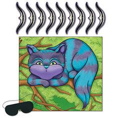 Pin The Smile On The Cheshire Cat Game Party Supplies Canada - Open A Party