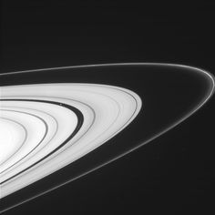 The Return of the Rings! The image shows portions of the thin, ropy F ring and the outer A ring, which is split by the 202-mile (325-km) -wide Encke gap.