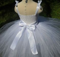 White sparkly tutu dress flower girl tutu by MissSweetPeaBoutique, $90.00