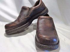 BORN 11.5 Brown Blast ll Men Loafers EU 44-45 Casual Apron Toe Men Slip On  #Born #LoafersSlipOns