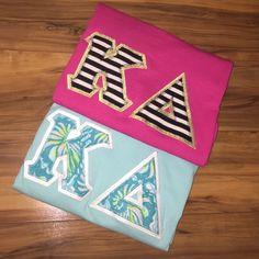 Two Kappa Delta Letter Shirts Bundle of two KD letter shirts! Both size Small Tops Tees - Short Sleeve