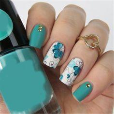 2 Patterns/Sheet Flower Nail Art Water Transfer Decal Sticker Born Pretty Bp-W10 #nailart