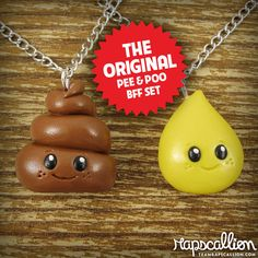 Only a nurse would think this is hysterical!  Best Friends Necklace Set  Pee and Poop Tiny by rapscalliondesign, $28.63