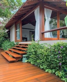 74 inspiration a garden for the ages 55 Tropical House Design, Tiny House Design, Tropical Houses, Rest House, House In The Woods, My House, Japanese Garden Design, Traditional House, My Dream Home