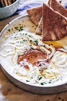 "It has a pretty nice ring to it, no? ""Whipped Feta and Goat Cheese with Hot Honey."" Good lort, sign me up. My husband and. The post Whipped Feta and Goat Cheese with Hot Honey appeared first on My Kitchen Little. I Love Food, Good Food, Yummy Food, Tasty, Fingers Food, Whipped Feta, Whipped Goat Cheese, Baked Goat Cheese, Vegetarian Recipes"