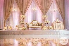 blush-pink-luxury-indian-wedding-reception-Laguna Cliffs Marriott Resort & Spa-ballroom