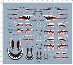 US Army Military Aircraft Shark Jaw Model Water Slide Decal Airplane Art, Airplane Room, Airplane Crafts, Shark Jaws, Pinstriping Designs, Lure Making, Garage Art, Nose Art, Water Slides