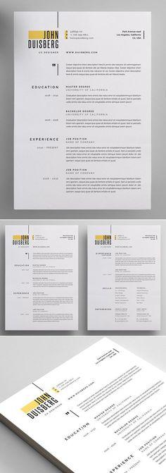 Resume Layout, Resume Cv, Resume Ideas, Graphic Design Resume, Letterhead Design, Modern Resume Template, Resume Templates, Simple Resume Template, Cv Digital