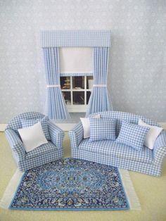 Handmade miniature dolls house living room by minimaisonminiatures, $32.00