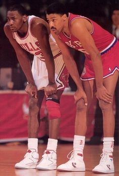 Young Michael Jordan & Dr. J