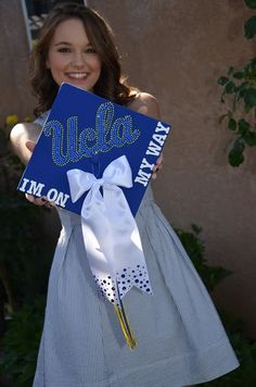 UCLA Decorated Graduation Cap // Practically Imperfect // www ...