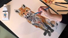 'Ginger' Fox Cub Watercolour Painting Demonstration Time Lapse Part 2