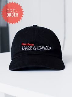 7a95e6600b0 BuzzFeed Unsolved Logo Dad Hat Hat Shop
