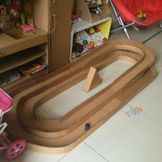Cardboard racing track