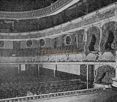 The Auditorium from the Stage of the Prince of Wales Theatre, Birmingham - From 'The Playgoer' 1901 - Courtesy Iain Wotherspoon .