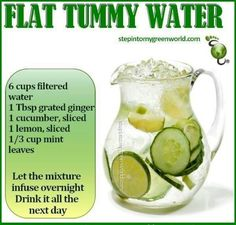 .Flat tummy water