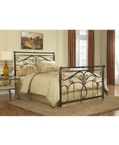 ellison marbled russet california king bed metal bed frame beds furniture macys