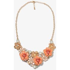 FOREVER 21 Swirled Flowers Bib Necklace ($15) ❤ liked on Polyvore featuring jewelry, necklaces, accessories, short necklace, bib necklace, chain bib necklace, flower jewelry and chain necklaces